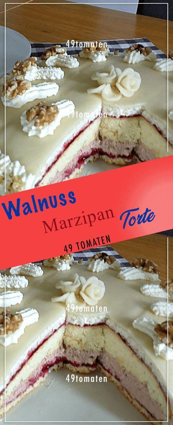 Walnuss-Marzipan-Kuchen. # Kochen #Rezepte #Einfach # Lecker   – Cake decoration and recipes