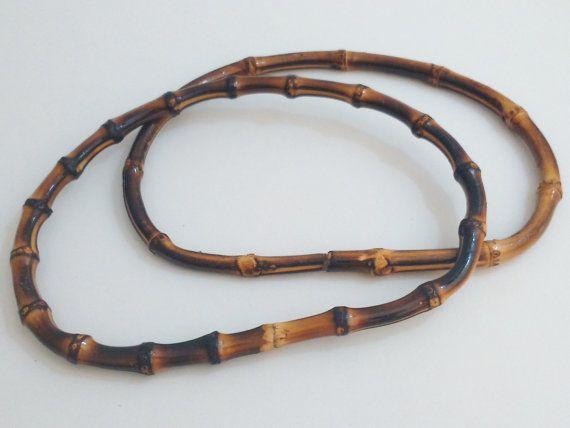 1 pair of bamboo bag handles 20 cm handbag make a by ROYALcraftPT
