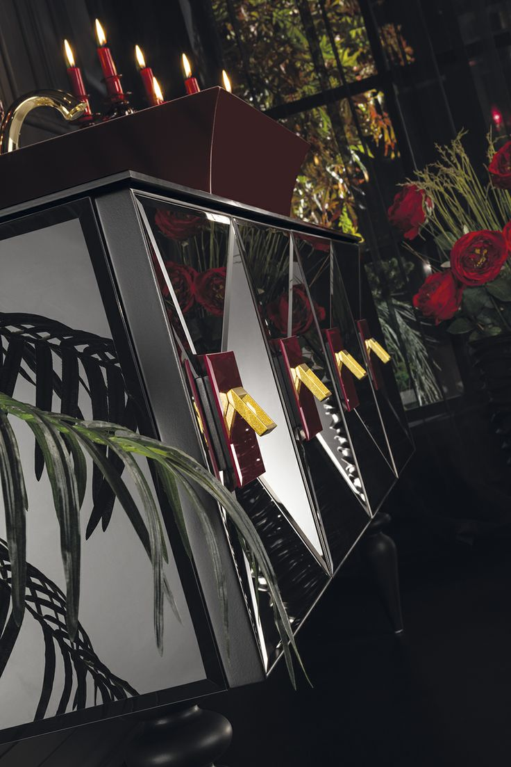 Topex Armadi Art Black & Burgundy Glass Fiaba Bath Vanity From Our Avantgarde Collection!