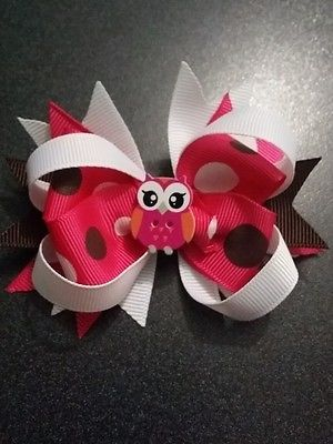 Girls mini boutique stacked bow sets / hair accessories / alligator clips