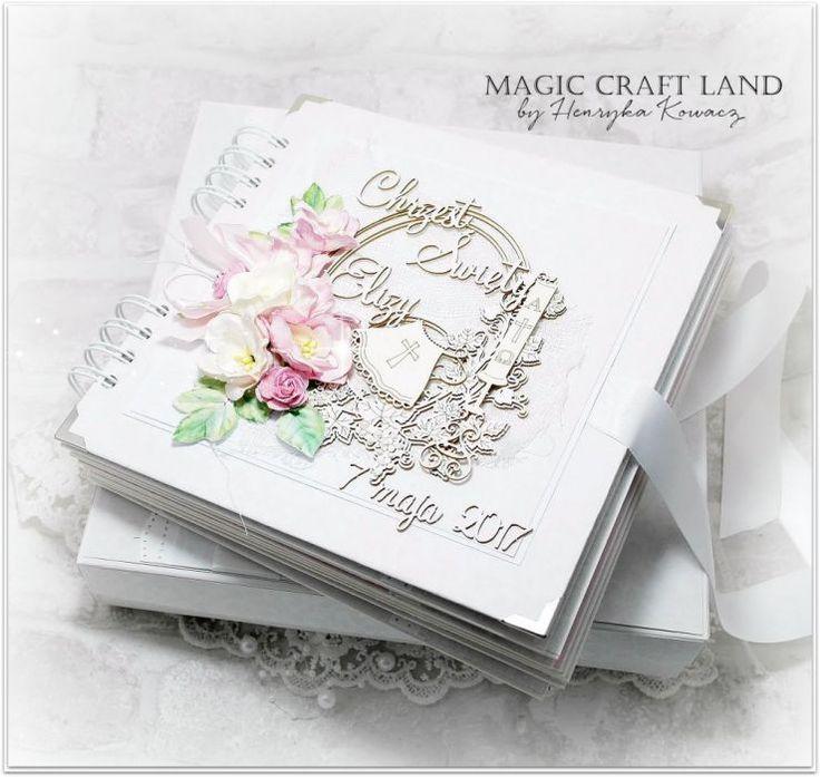 PRODUKT NA ZAMÓWIENIE!!!!!!!!! Ręcznie wykonany, w pełni spersonalizowany album. Wykonany z wysokiej jakości materiałów do scrapbookingu, z dodatkiem elementów 3D, kwiatów, perełek, wstążek, koronek, itp. Możliwość zamówienia albumu na różne okazje: -śluby, -komunie, -chrzciny, -narodziny dziecka, -rocznice ślubu, -itp. Wymiar 20x20 cm w komplecie z pudełkiem 24x24x5 cm.