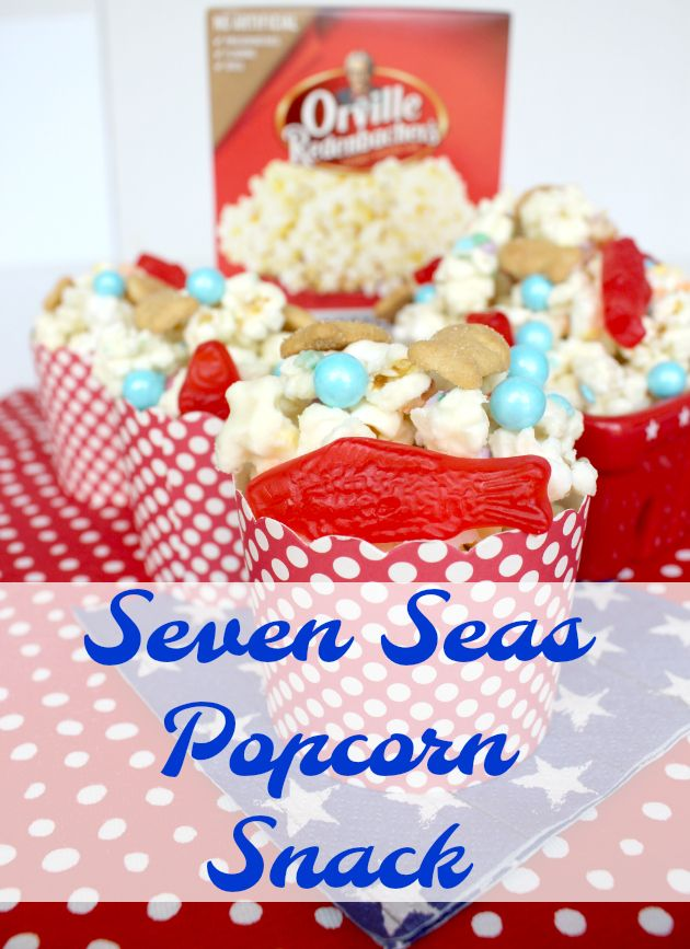 Seven Seas Popcorn Snack Recipe: inspired by Aquaman #orvillepopcornjusticesweepstakes
