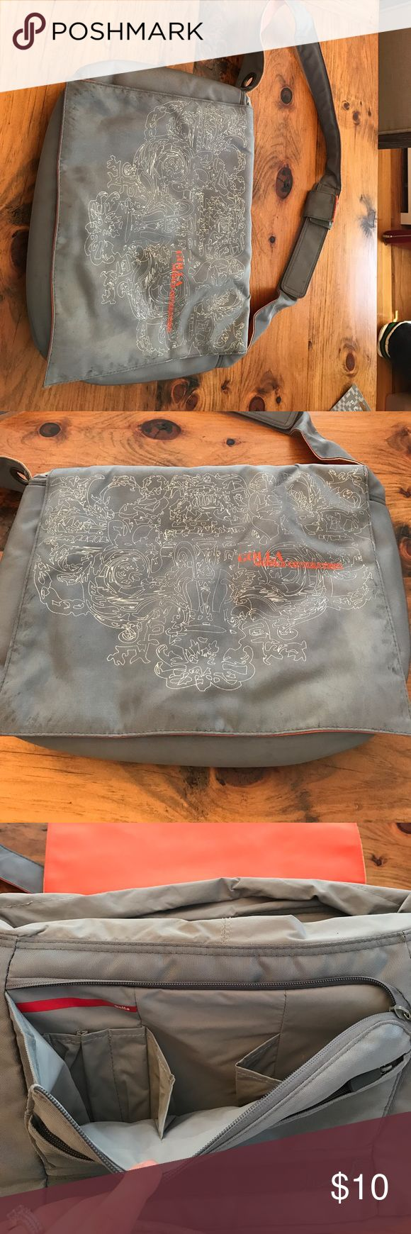 Laptop bag Grey and orange laptop bag. Lots of room and pockets. Some minor wear so discounting for that. Golla Bags Laptop Bags