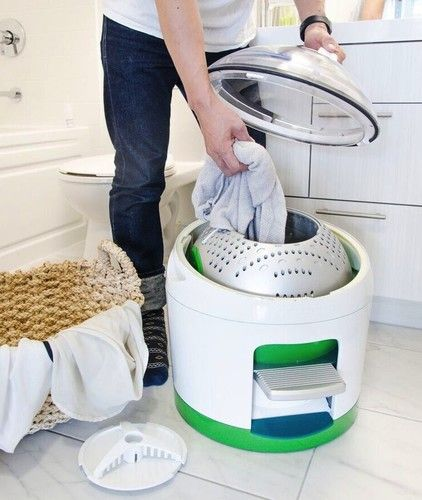 Compact Foot-Powered Washing Machine Boon To Campers                                                                                                                                                                                 More