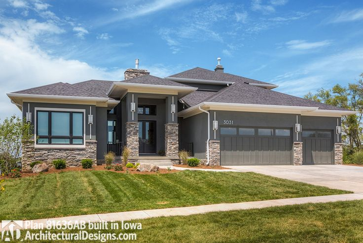 69 best stucco images on pinterest for Contemporary prairie style homes