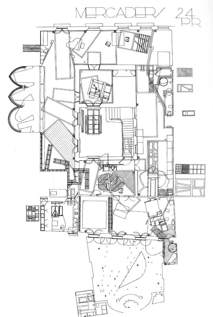 """The architect that creates the most expressive ambiguity between the architectural plan and the map seems to be Enric Miralles (1955-2000)."" (...) ""One might even argue that his built architecture is paradoxically serving the plan rather than the usual opposite"". (...) ""Following this..."