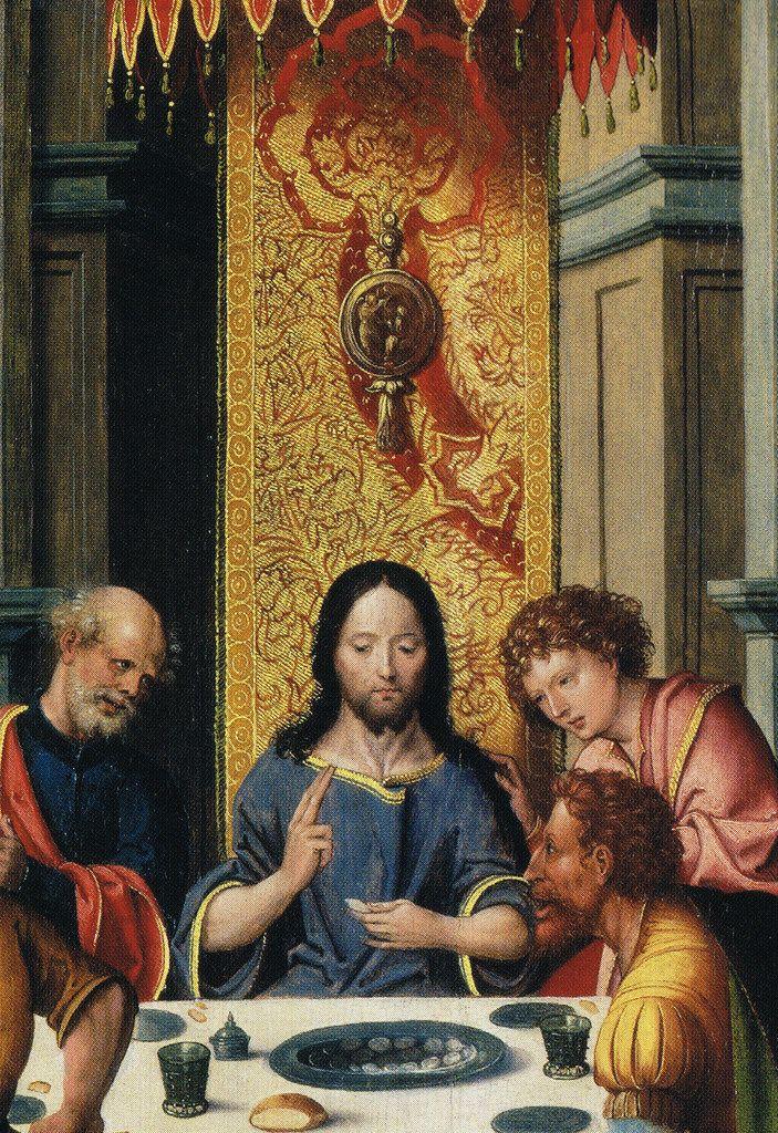 с.1525, (Antwerp Mannerism) Anonymous-The Last Supper,with a donor-Тайная Вечеря,с Донором.