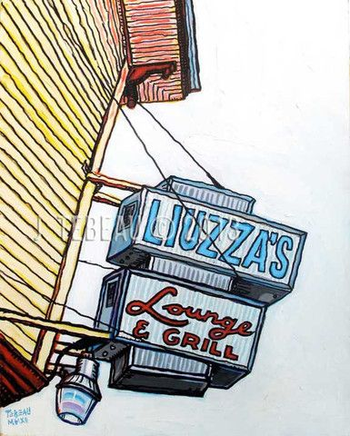 Liuzza's Bar in New Orleans, original painting