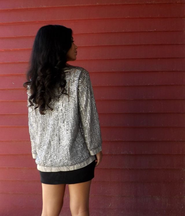 Silver Sequins Cardigan perfect for holidays or specials ocassion