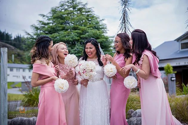 Our stunning bride Paula and her best girls.