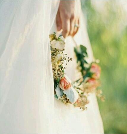 Blomsterkrans brud