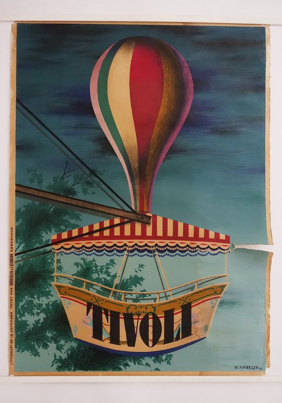 1943 Tivoli Gardens by Ib Andersen  Original by OutofCopenhagen