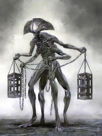 Artista cria versão monstruosa dos signos do zodíaco   Libra