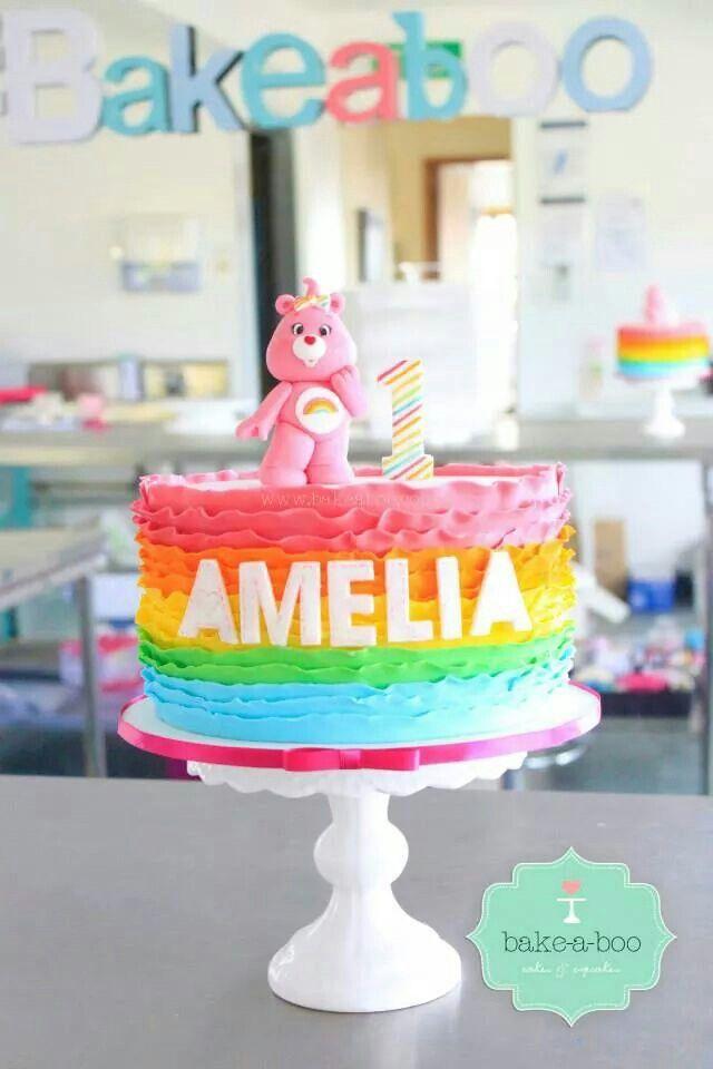 Care Bear Rainbow cake
