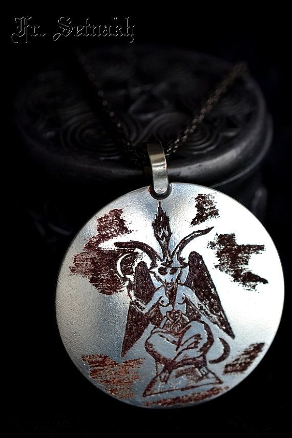 FREE SHIPING!  BAPHOMET by Eliphas Levi - ORYGINAL HANDMADE RITUAL MEDALION.  Oryginal and one of a kind medallion! Made and consecrated by Frater