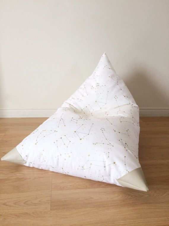 Gold and Silver Constellations Bean Bag for Kids by Cyandegre