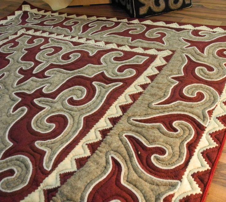 GlobeIn: Handmade Kyrgyz Shyrdak Felt Rug #globein