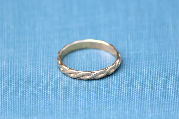 Gold Infinity Ring Band Eternity Ring Infinity Rings
