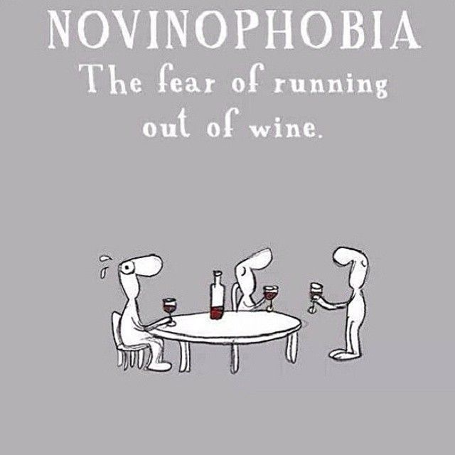 Novinophobia...  we have this all the time.  #humor #wine