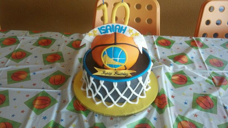 Golden State Warrior Cake Kid S Cakes Pinterest