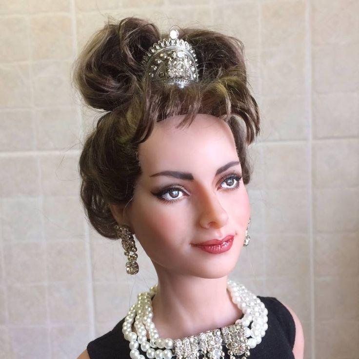 Одри Хепберн,авторская кукла,55см  Audrey Hepbern