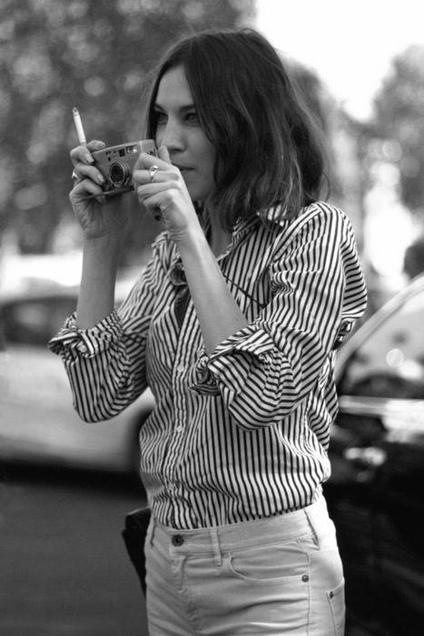 Alexa Chung in stripes #style #fashion