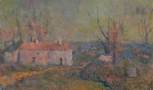Lloyd Rees, Orchard Homestead, Murdoch University Art Collection