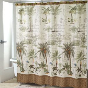 Plastic Shower Curtain Palm Trees