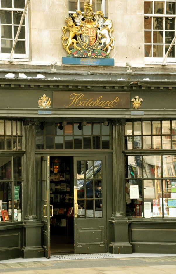 Hatchards Bookshop, Piccadilly, London - the oldest book store, opened in 1797