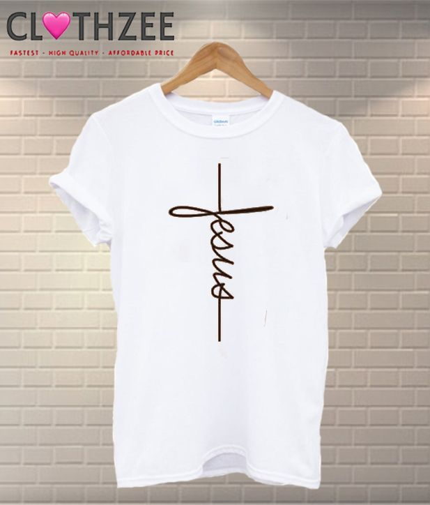 dc2b83b0062 Jesus Cross Religion T-Shirt from clothzee.com This t-shirt is Made To  Order