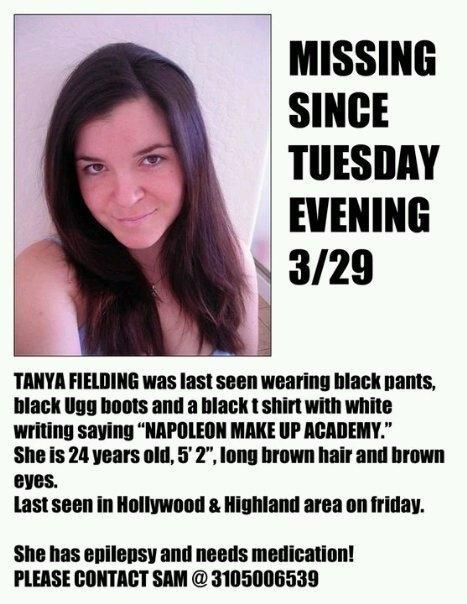 missing people | Missing persons poster for Tanya Fielding.