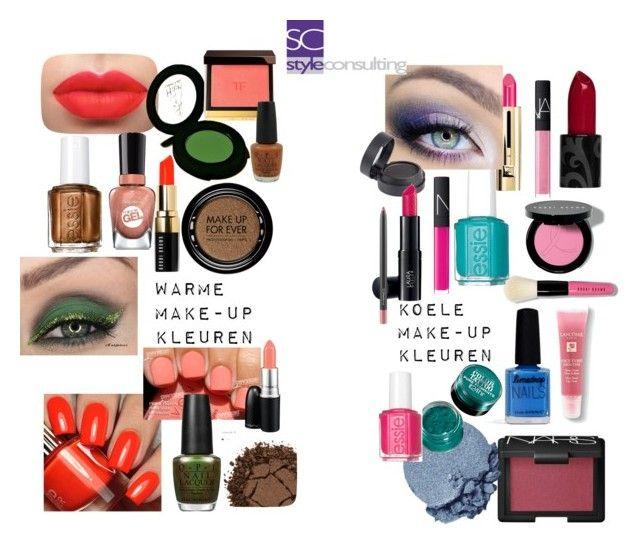 """Warme en koele make-up kleuren"" by roorda on Polyvore featuring mode, Bobbi Brown Cosmetics, Avon, Lancôme, NARS Cosmetics, Sally Hansen, Limedrop, Essie, Guerlain en OPI"