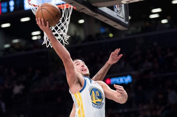 Academy of Scoring Basketball - Golden State Warriors guard Klay Thompson scores during the first half of an NBA basketball game against the Brooklyn Nets, Sunday, Nov. 19, 2017, in New York. (AP Photo/Mary Altaffer) TSA Is a Complete Ball Handling, Shooting, And Finishing System!  Here's What's Included...