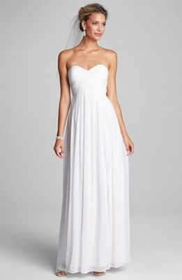 The Best Wedding Dresses For Any Body Type – Part 2:   If you're apple-shaped: Search for a gown that cinches in at the smallest point of your waistline and gradually flares out into an A-line shape.
