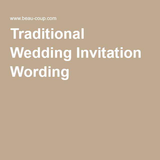 25 melhores ideias de Formal wedding invitation wording no
