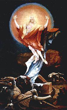 Matthias Grünewald,  die Auferstehung Altar-Flügel des Isenheimer Altars