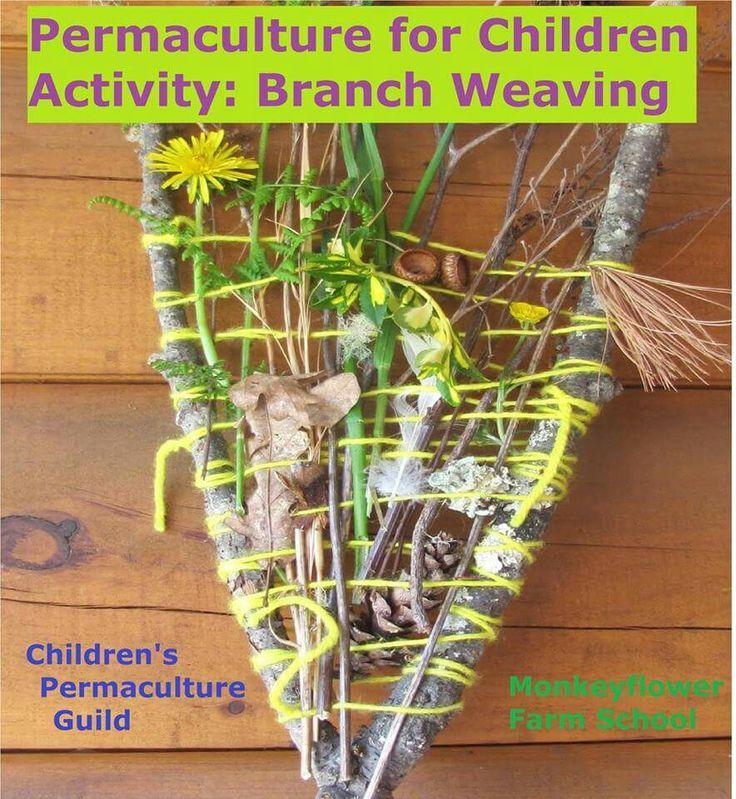 Children weaving