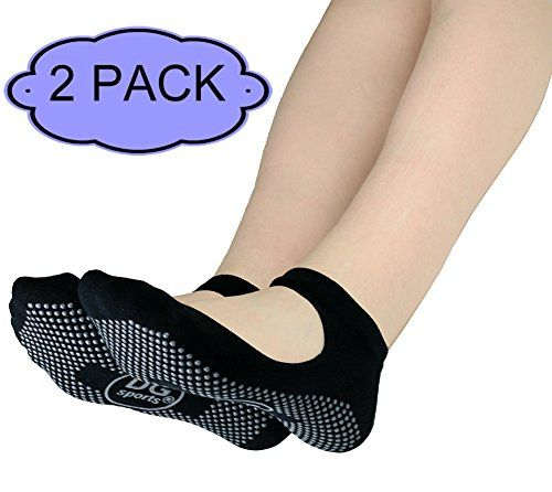 Yoga Socks Mary Jane Bella with Grips SM 2 PACK Black -- Click on the image for additional details.