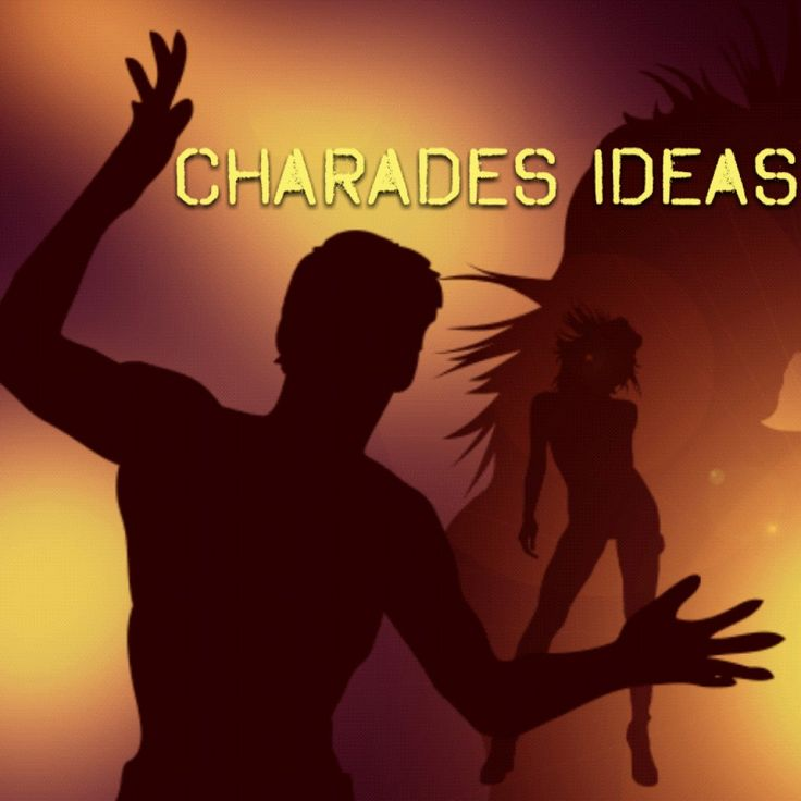 A big list of charades topics, including books, movies, celebrities, fictional characters, objects and actions. Charades words list. The rules of Charades are also explained. ...good master list and additional links here too!