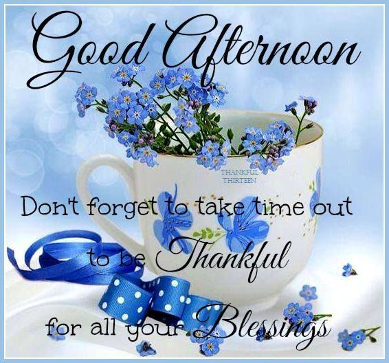 Good Afternoon Take Time To Be Thankful Today good afternoon good afternoon…