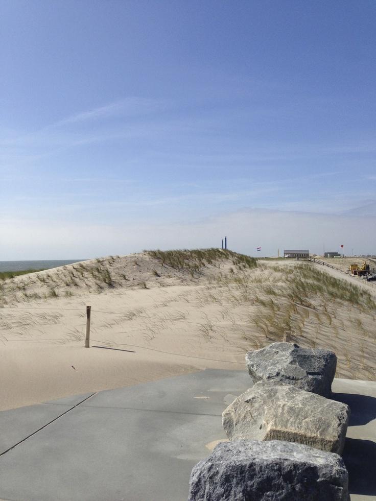 Nice sight on the beach of 2nd Maasvlakte in Rotterdam