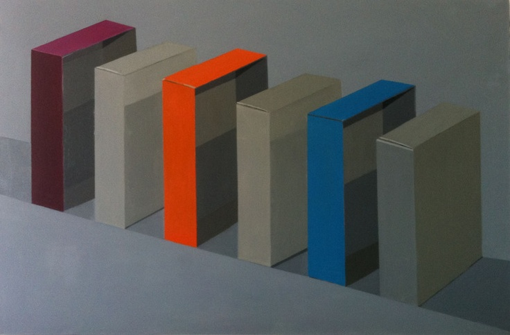 """Saatchi Online Artist: Stuart McHarrie; Oil, 2013, Painting """"three paintboxes separated"""""""