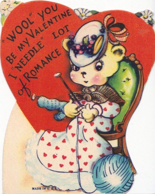 Vintage #knit #valentine