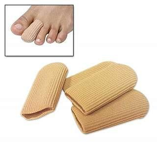 Gel Toe Caps - Small/Medium. Relieves painful corns, ingrown nails, hammer toes, crooked toes, overlapping toes and more. Gel Toe Caps are effective for weeks of use. The soft fabric sleeve breathes and stretches easily for a comfortable, custom fit. Surrounds, soothes and protects completely. Gel Toe Caps instantly cushion and protect corns, ingrown nails and other toe irritations. The soothing gel in Gel Toe Caps completely surrounds the toe to absorb pressure and friction while...