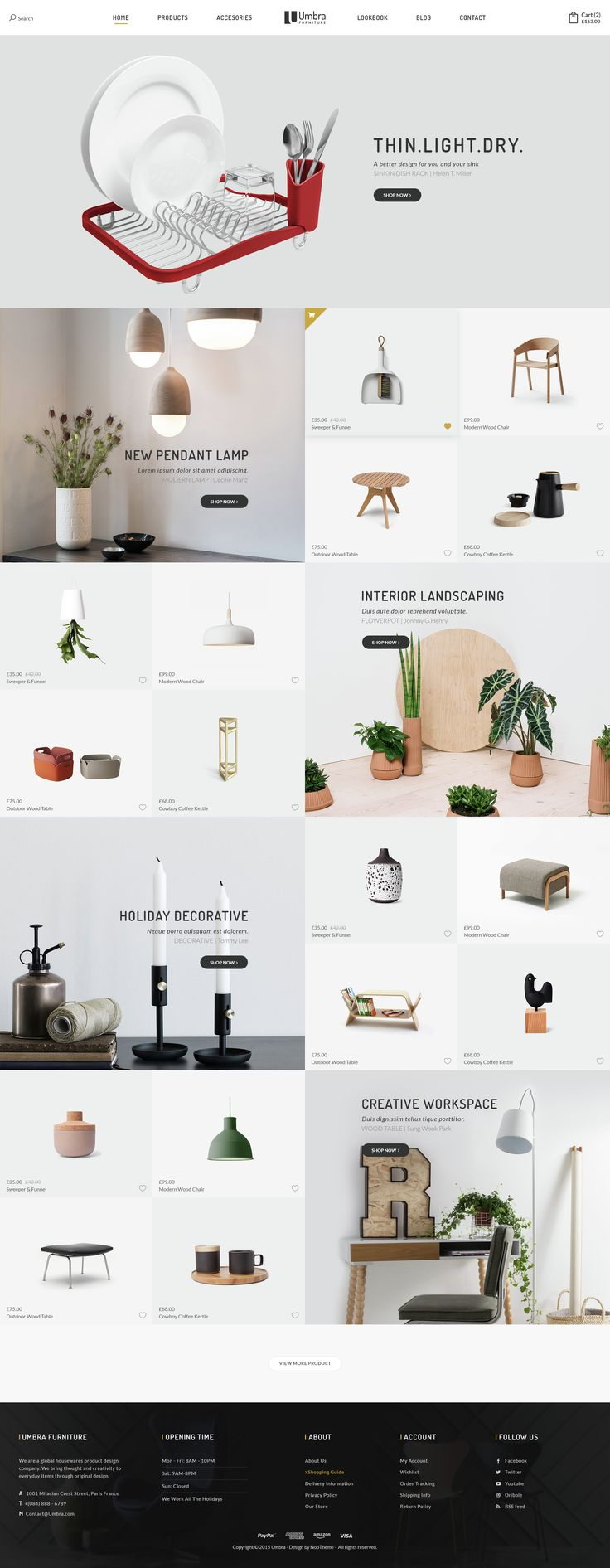 Umbra is the premium PSD template for interior and furniture shop. It is designed exclusively for furniture shops but it can be suitable for any kind of ecommerce shops thanks to it...