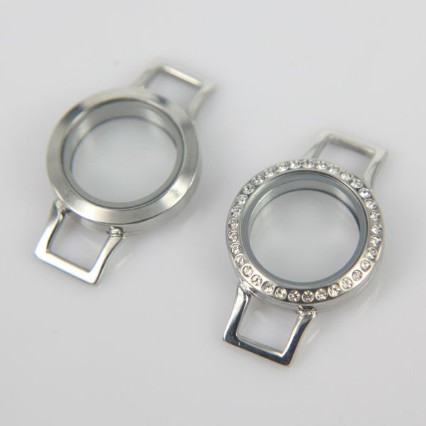 Hot Selling High Quality Silver Color Twist Locket 25mm Stainless Steel Locket Bracelets fit Charms for DIY 10pcs/lot
