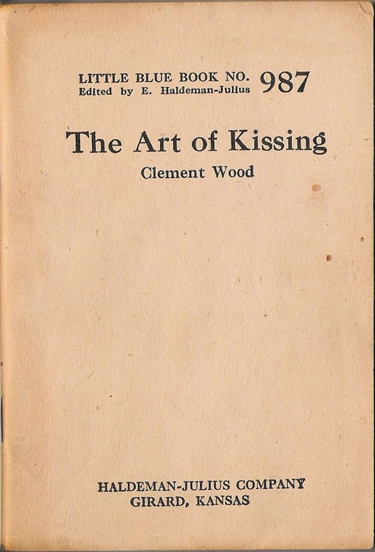 The Art Of Kissing  Clement Wood (little Blue Book
