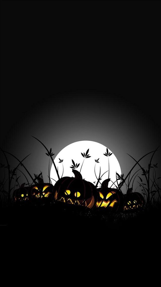 Moon Halloween pumpkin iPhone 5 wallpapers Top iPhone 5