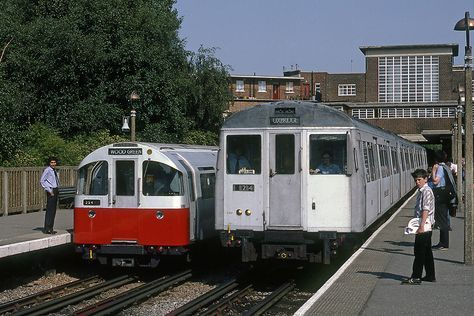 1973 Tube Stock (Piccadilly Line) and A60 (Metropolitan Line) on the right at Rayners Lane | Flickr - Photo Sharing!