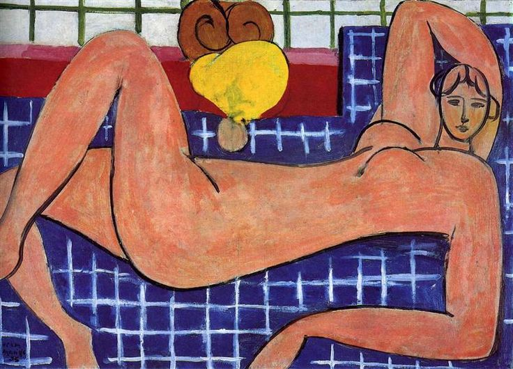 Pink Nude, 1935 by Henri Matisse. Expressionism. nude painting (nu). The…